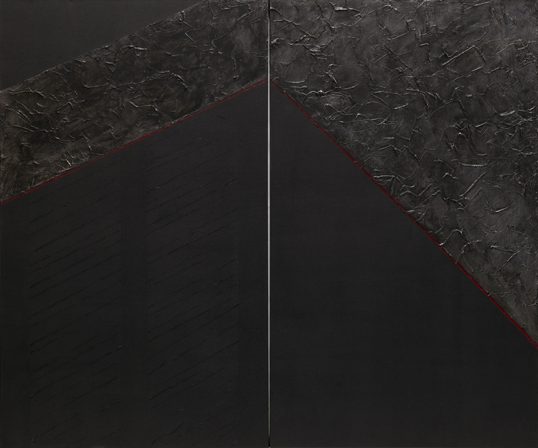 "Infinity I and II, 2011, acrylic on canvas. 60"" h x 72"" w."